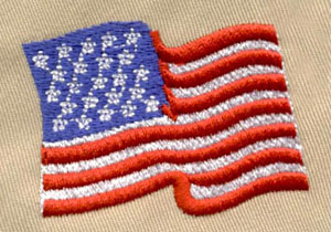 Flag_2 embroidery digitizing sample
