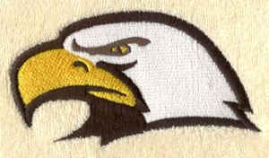 Eagle_3 embroidery digitizing sample