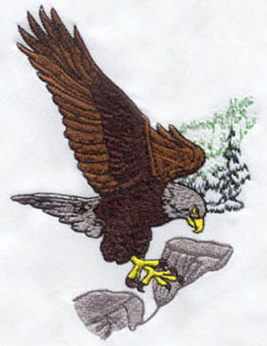 Eagle_6 embroidery digitizing sample