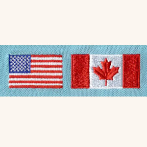 Flag_1 embroidery digitizing sample