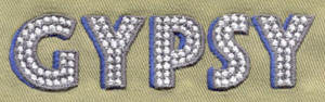 Letter_11 embroidery digitizing sample