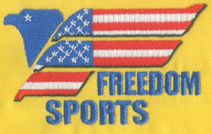 Flag_3 embroidery digitizing sample