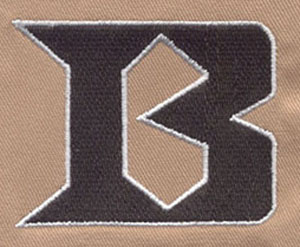 Letter_1 embroidery digitizing sample